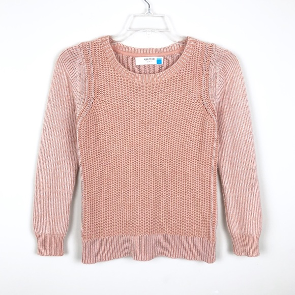 Anthropologie Sweaters - Anthropologie Sparrow Knit Pink Sweater
